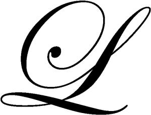 Lettrine L (Edwardian Script ITC)