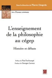 L'enseignement de la philosophie au cegep_cover
