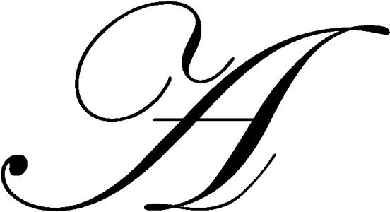 Lettrine A (Edwardian Script ITC)